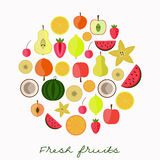 Fresh fruits collection Stock Image