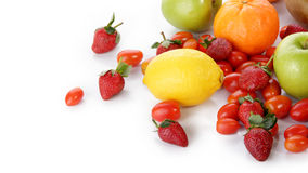 Fresh fruits with copyspace Royalty Free Stock Photos