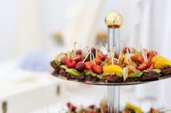 Fresh fruits dessert Royalty Free Stock Photo