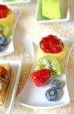 Fresh fruits dessert Stock Photography
