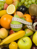 Fresh Fruits & Diet. Healthy Eating series: Fruits assortment. Diet concept Royalty Free Stock Photo