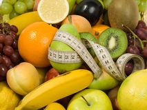 Fresh Fruits & Diet. Healthy Eating series: Fruits assortment. Diet concept Royalty Free Stock Photos