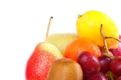 Fresh fruits with drops Royalty Free Stock Photography