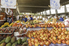 Fresh fruits and fresh vegetables direct from the farms. Av. Dr. Gastão Vidigal, 1946,  São Paulo, SP, Brazil, Jun, 18th 2017 sunday, morning. Fresh fruits and Stock Images