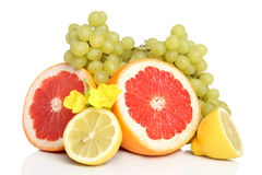 Fresh fruits with green grape Royalty Free Stock Photography
