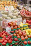 Fresh fruits in a greengrocery Royalty Free Stock Photo