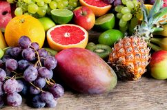 Fresh fruits. Healthy eating concept royalty free stock images