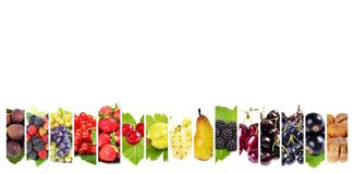 Fresh fruits . Healthy food background Royalty Free Stock Photo