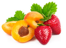 Fresh fruits healthy food berry mix strawberries Stock Photos