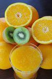 Fresh fruits. Healthy oranges, kiwis and apples royalty free stock images