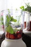 Fresh Fruits In The Blender Royalty Free Stock Photography