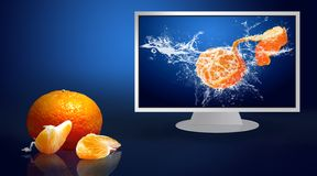 Free Fresh Fruits In Water Drops Stock Image - 9350821