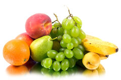 Fresh fruits  isolated Stock Images