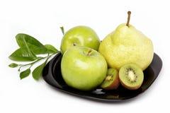Fresh fruits isolated on a white. Fresh fruits isolated on a white background Stock Photo
