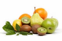 Fresh fruits isolated on a white. Fresh fruits isolated on a white background Stock Photos