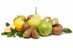 Fresh fruits isolated on a white. Fresh fruits isolated on a white background Royalty Free Stock Photos