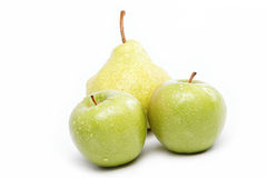 Fresh fruits isolated on a white. Fresh fruits isolated on a white background Royalty Free Stock Images