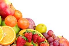 Fresh fruits. Isolated on a white Stock Image