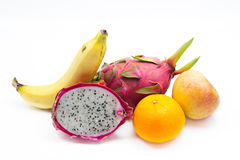 Fresh fruits isolated Royalty Free Stock Images