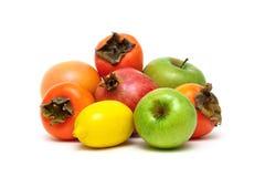 Fresh fruits isolated on white background Stock Photos