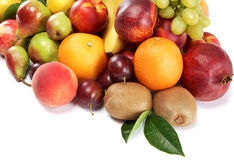 Fresh fruits. Set of different. Stock Photo