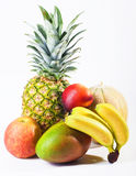 Fresh fruits isolated on white Royalty Free Stock Images