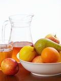 Fresh fruits and juice Royalty Free Stock Photo