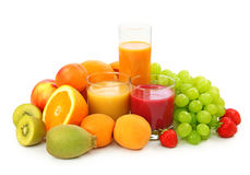 Fresh fruits and juice Royalty Free Stock Image