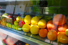 Fresh fruits for juice at the market Royalty Free Stock Image