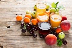Fresh fruits juices Stock Image