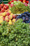 Fresh fruits market royalty free stock photography