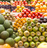 Fresh fruits at a market Royalty Free Stock Photography