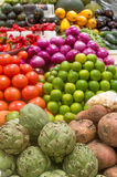 Fresh fruits at a market Stock Images
