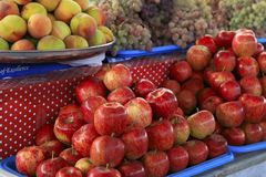 Fresh fruits at a market Stock Photography
