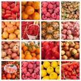 Fresh fruits at the market background Royalty Free Stock Images