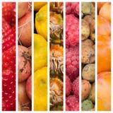 Fresh fruits at the market background Royalty Free Stock Photo