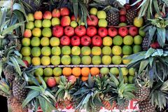 Fresh fruits in the market. stock image