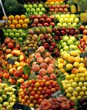Fresh fruits on the market stall Royalty Free Stock Image
