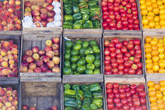 Fresh fruits at a market stall Stock Image