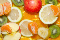 FRESH FRUITS. Mix fruits background.Fresh fruits.Healthy eating, dieting concept, clean eating Royalty Free Stock Photography