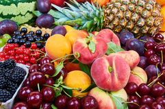 Fresh fruits. Mix of fresh fruits. Fruit background royalty free stock photo