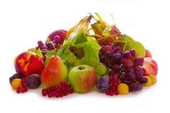 Fresh fruits mix . Fresh fruits mix isolated on white background royalty free stock photo