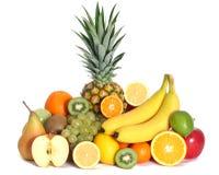 Fresh fruits mixed isolated stock images