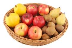 Fresh fruits moothie on white backgrounds stock image