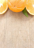 Fresh fruits orange  on wood board Stock Image