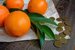 Fresh fruits, oranges Stock Photography