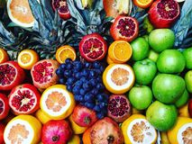 Fresh fruits picture. Local market. Royalty Free Stock Photo