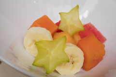 Fresh fruits pieces Stock Photography