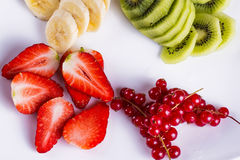 Fresh fruits on a plate Royalty Free Stock Image
