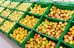 Fresh fruits ready for sale. At the supermarket royalty free stock photo